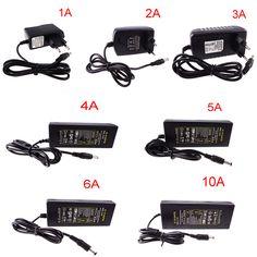 12 V 5 V 1A 2A 3A 4A 5A 6A 8A 10A Güç adaptör kaynağı led şerit giriş AC110-220V kordon trafo için hızlı gemi R
