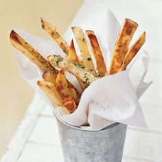 Garlic Fries. LOVE this recipe. Baked. Not Fried. SO flavorful! Definitely on the menu rotation in our home.