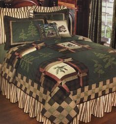 Cabin Bedding | Forest Trail Quilt and Lodge Bedding - Discount Home Bedding
