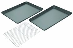 Chicago Metallic Non-Stick 3-Piece Value Pack with 2 Cookie/Jelly Roll Pans and Cooling Grid >>> You can find out more details at the link of the image.