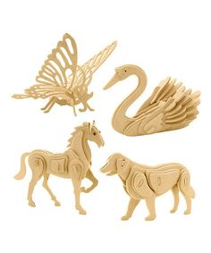 Love this Animal 3-D Puzzle Set by UNIQIA on #zulily! #zulilyfinds