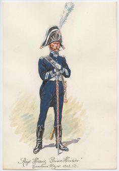 """Régiment Hessois """"prince héritier"""" Tambour Major 1808-12"""