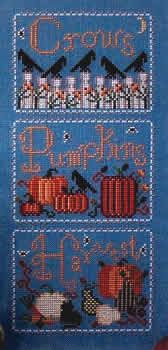 Crows and Pumpkins (cross stitch) $7.99