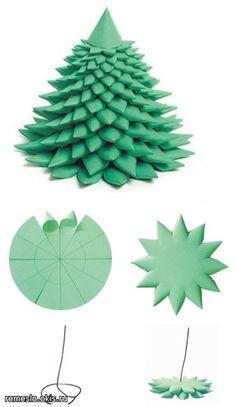 origami tree Christmas