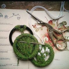 My #snowdrop brooch kits This may help , for the lady getting started on her snowdrop brooch , I will try and do a mimi film if that would help.