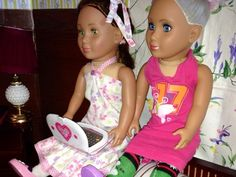"""PennilessCaucasianRubbish American Doll Adventures: American Girl 18"""" Doll Upcycled Laptop from Diaper Wipe Package"""