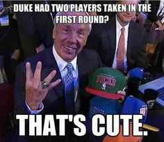 Roy Williams laughing at Dook. #UNC #NBA