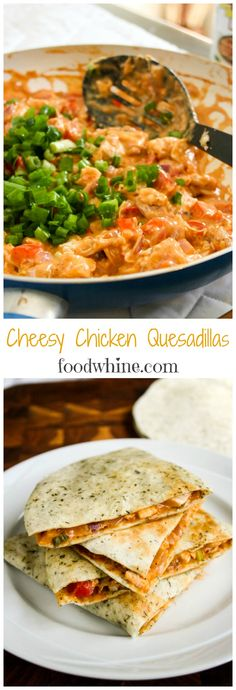 These Cheesy Chicken Quesadillas by Cook with Campbell's are so creamy, delicious, and easy to make. They were a big hit with the whole family.