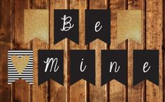 Valentine's Day Be Mine BannerStriped & Faux by StealMyHeartDesign, $7.00