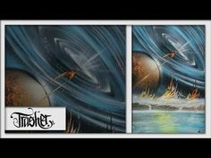 EXCLUSIVE Spray Paint Art - GALAXY by: TRASHER - YouTube