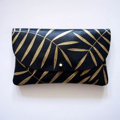 Golden Palm Wallet Pouch (small clutch)