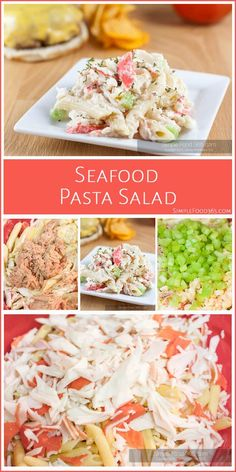 "What started out as a good Seafood Pasta Salad, has become a really great one with a little ""tweaking"" from our resident yumologist, Tara! This salad is great as a side or right out of the bowl. Give it a try and let us know what you think. We love it and are sure your family will too! 