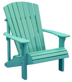 Deluxe Adirondack Chair Aruba Blue