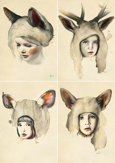Kareena Zerefos, artist and freelance illustrator who lives in Australia.