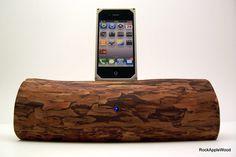 Accesorios Etsy con acabados de madera para tu iPod y iPhone.