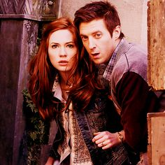 Amy & Rory Pond. Okay, technically the are Mr & Mrs Rory Arthur Williams, but... you know. #DoctorWho