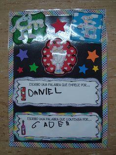 Como en nuestra clase ha triunfado tanto el panel del número (lo hace la pareja del jefe mientras este escribe su nombre, busca las letras...