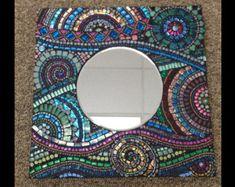 espejo mosaico por GradaMosaics en Etsy                                                                                                                                                                                 Más