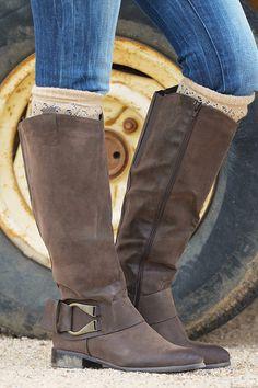 Riding Flirty Boots - Brown