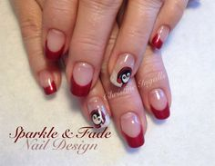 Penguin Nails by SparkleFade from Nail Art Gallery