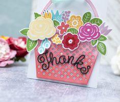 Bloomin' Cute Floral Baskets » Paper Suite Shaped Cards, Color Effect, Black Paper, New Leaf, Gift Packaging, Unique Colors, Floral Arrangements, Baskets, Card Making