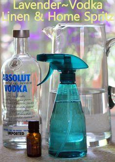 Lavender Linen & Home Spritz - add vodka as an emulsifier.