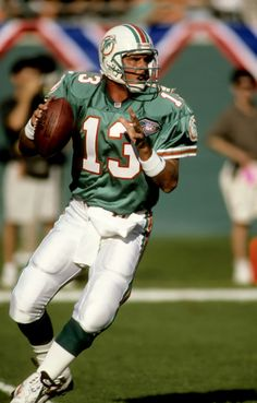 Pro Football Hall of Famer Dan Marino of Miami Dolphins.
