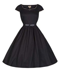 Another great find on #zulily! Lindy Bop Black Tara A-Line Dress by Lindy Bop #zulilyfinds