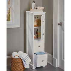 Weatherby Bathroom Tall Narrow Bath Cabinet