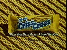 In the mid I remember my Mum sometimes buying the Cheesy Criss Cross snack, which was made by Cadbury's, a firm I had always previousl. Retro Chocolate Bars, Chocolate Sweets, Great Recipes, Snack Recipes, Favorite Recipes, Toffee Crisp, 80s Food, Cheese Snacks, Crisp Recipe