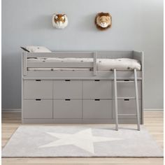 Best Childrens Beds Single / Double With Storage And Desk for Home Block Bed BAHIA great storage under bed could create using ikea kura as base Kids Beds With Storage, Cool Beds For Kids, Bed Storage, Ikea Storage Bed Hack, Ikea Loft Bed Hack, Kura Bed Hack, Bedroom Storage, Ikea Hack, Cama Ikea Kura