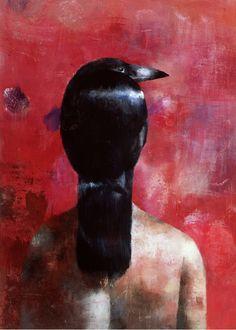 Giclée Art Print by Paola Piglia - Arte Limited Tableaux D'inspiration, Magic Realism, Surrealism Painting, Nature Animals, Raven, Illustration Art, Illustrations, Sculpture, Art Prints