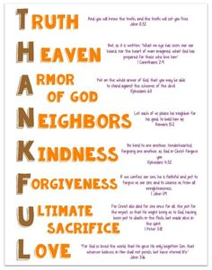 Thankful Acrostic Printable with Bible Verses - Ministry-To-Children
