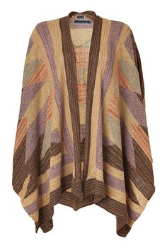 Dove Serape Open Front Poncho by RALPH LAUREN |