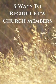 Some people will church shop until they find a church that is the right fit for them but what about those people out there who might be open to joining a church but don't know how to?  Most churches welcome new members but don't do anything proactively to recruit them.