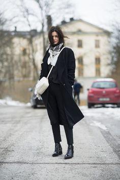 Winter Street Style bei Schnee und Eis | POPSUGAR Deutschland Mode