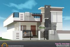 Single Floor House Design, Duplex House Design, Duplex House Plans, Small House Design, Floor Design, House Floor Plans, Front Elevation Designs, House Elevation, North Facing House