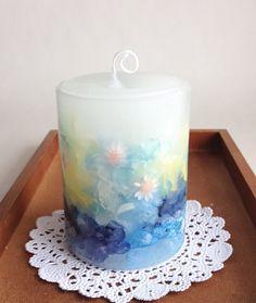 ボタニカルキャンドル (ブルー) by yuko アロマ・キャンドル キャンドル