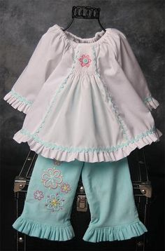 Darling smocked outfit with maching embroider to match. Might be Temily from AS&E #80