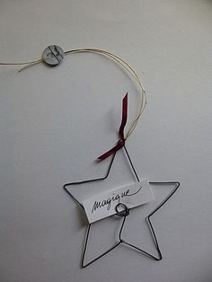 """This says: ... I would make with copper wire, and add wire """"wish"""" in center, along with holder for scrip name slip"""
