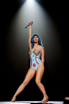 """SUNRISE, FL - JUNE 11: Katy Perry performs during the North American leg of her """"California Dreams Tour 2011"""" at the Bank Atlantic Center on June 11, 2011 in Sunrise, Florida. (Photo by Kristian Dowling/Getty Images)"""