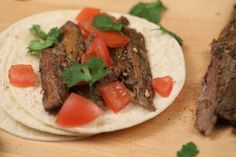 Watch how to make slow cooker carne asada