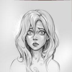 ArtStation - Embarrassed sketch, Anna Anikeyka