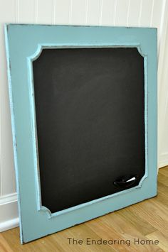 Turn an Old Wood Cabinet Door Into a Chalkboard
