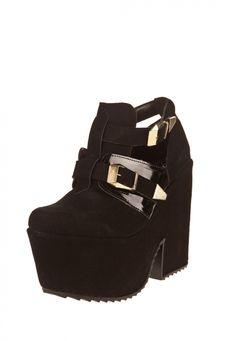 Me encanta! Miralo! Zapato Negro Cianna con Plataforma  de Cianna en Dafiti