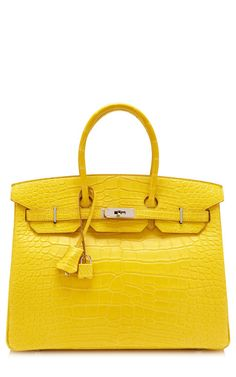 Hermès 35Cm Matte Mimosa Alligator Birkin by Heritage Auctions Special Collections for Preorder on Moda Operandi