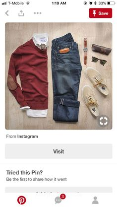 white dress shirt with brown elbow patches and brown leather jacket with beige vans and dark wash jeans. Jean Outfits, Cool Outfits, Casual Outfits, Look Fashion, Mens Fashion, Fashion Outfits, Casual Wear, Men Casual, Blue Denim Shirt