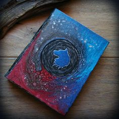 CUSTOM GALAXY SKETCHBOOK  A5 size bendable by WolfPathStudio