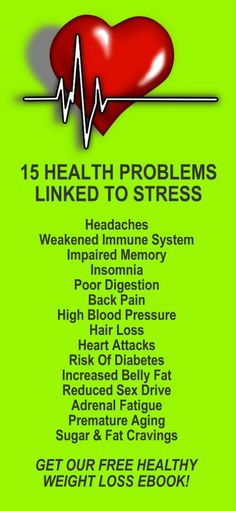 15 Health Problems Linked To Stress. Reduce stress, get healthy, and lose weight with our alkaline rich, antioxidant loaded, weight loss products that help you increase energy, detox, cleanse, burn fat and lose weight more efficiently without changing your diet, increasing your exercise, or altering your lifestyle. LEARN MORE #Stress #Related #Health #Problems