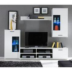 HBZ Wohnwand FRONTAL 1 in weiß Design inklusive Beleuchtung http://www.moebelkaufen.info/produkt/hbz-wohnwand-frontal-1-in-weiss-design-inklusive-beleuchtung/